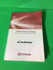 2008 TOYOTA CAMRY OWNERS MANUAL LONGTIME TRUSTED SELLER