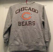NFL Chicago Bears Hoodie Sweat shirt Gray Grey C Logo Youth Boys M 10 12 Medium