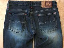 LEI Women's Juniors Jeans Size 3 Dark Acid Wash Finish Straight Leg Cut