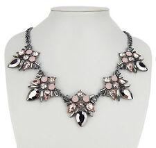 Statementkette silber rosa Ella Jonte kurze Halskette Collier Kette Chain Glas