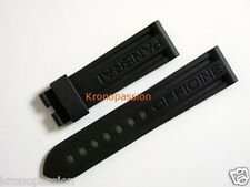 Panerai Black Rubber Strap 24mm/22mm for Deployant Buckle New !