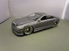 JADA 1/24 DUB CITY GRAY 2007 MERCEDES BENZ S550 AMG NEW NO BOX