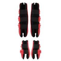 2 paia di stivali per zampe di cavallo Avvolgimenti protettivi del tendine