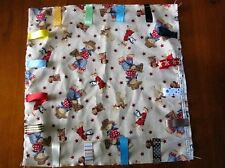 COWBOY AND INDIAN BEARS PERSONALISED BABY BOYS TAG BLANKETS : GREAT GIFT :