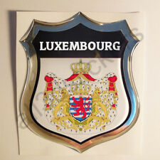 Sticker Luxembourg Emblem Coat of Arms Shield 3D Resin Domed Gel Vinyl Decal Car