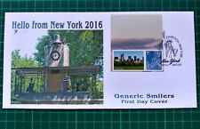 Hello from New York 2016 Central Park Smiler FDC New York Lincoln pmk