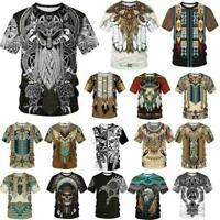 Funny Viking Tattoo 3D print Casual T Shirt Hot New Men Women Short Sleeve Top