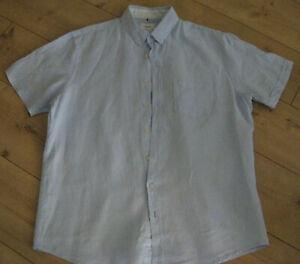 Leinenhemd hellblau, Gr. XL 43/44 von BRAX, comfort fit