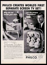 1958 Philco Predicta Tandem TV T.V. television set photo vintage print ad