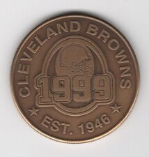Cleveland Browns HIGHLAND MINT Bronze Coin 1999 Schedule Medallion Football NFL