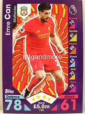 Match Attax 2016/17 Premier League - #155 Emre Can - Liverpool FC