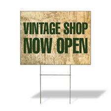 Weatherproof Yard Sign Vintage Shop Now Open Advertising Printing Lawn Garden