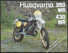 Brochure Prospectus Moto HUSQVARNA 250 WR 430 WR MOTO CROSS MOTOCROSS 1981
