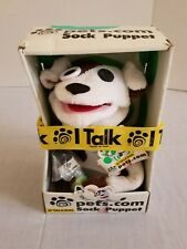 Sock Puppet Dog Pets.com Talking Original Box Unopened
