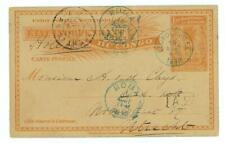 Belgian Congo 1898 Antique Postal Stationary Postcard - Boma  / Leopoldville