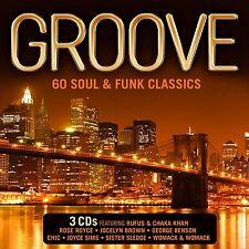 Groove - 60 Soul & Funk Classics - New 3 x CD