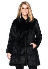 sheego Style Kuscheliger Mantel aus Fellimitat Schwarz. Gr. 42. NEU!!!