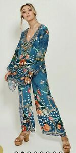 Camilla Faraway Florals Blouse Size XL New With Tags