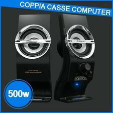 Casse audio per PC computer notebook USB 500w altoparlanti stereo con regolatore