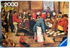 Jigsaw Puzzle Ravensburger 2000 pc PEASANT WEDDING Pieter Brueghel 1982 Vintage
