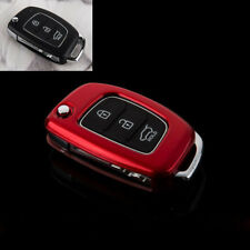 ABS PLASTIC PROTECTIVE CASE FOR 3 BUTTON KEY FLIP FOB HYUNDAI i10 i20 ix20 Red