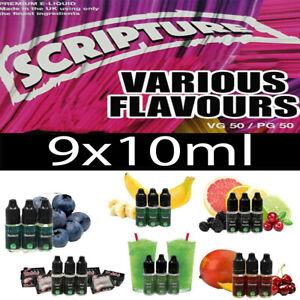 Scripture E Liquid 9x10ml 50vg 50pg Premium Juice All Day Vape