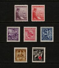 (YYAC 633) Bohemia and Moravia 1943 1944 MNH WWII Red Cross Third Reich Germany