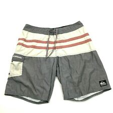 VINTAGE Quicksilver Boardshorts Size 32 Waist Gray Board Short Swimsuit Men 90's