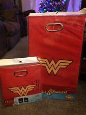 Nib~Wonder Woman (red) Folding Laundry Bin And Storage Bin Set~ Free Shipping!