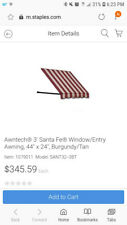 """Awntech 3-Feet Santa Fe Twisted Rope Arm Window/Entry Awning, 44"""" x 24""""- New!"""