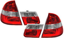 Red Chrome finish tail lights rear lights SET for BMW E46 Touring wagon 98-05