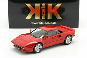 KK Scale Ferrari 288 GTO Upgrade 1984 Red with Black & Red Interieur 1/18