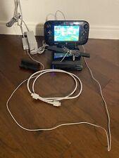Nintendo Wii U 32GB Black Console   Complete    Game Pad    Sensor Bar   TESTED