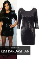 Sequin Scoop Neck Party Stretch, Bodycon Dresses for Women