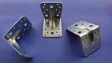 Winkelverbinder 105 x 105 x 90 mm mit Rippe / Steg  Stahl verz. Holz Verbinder