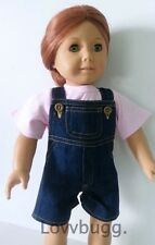 "T-Shirt & Denim Shorts Overalls Clothes for 18"" American Girl or Baby Doll Wow!"