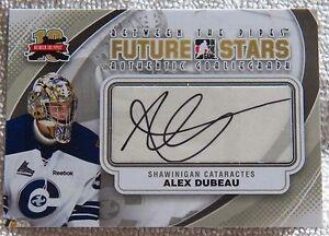 11/12  ITG BTP Alex Dubeau Signed Future Stars Card Auto