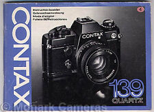 Contax 139 Quartz Instruction Book. More Camera Manuals & User Guides Listed