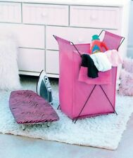 Animal Print Ironing Board and Hamper Sets Pink Zebra Black Laundry