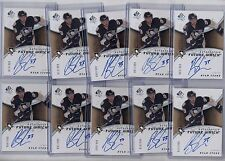 (10) RYAN STONE 2008-09 SP AUTHENTIC FUTURE WATCH ROOKIE RC AUTO #/999 LOT