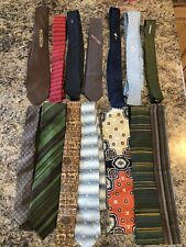 14 TRUE VINTAGE AUTHENTIC SKINNY TIE LOT 1950'S 60'S