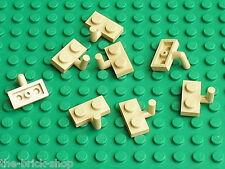 Plaques plates beiges avec crochet LEGO tan Plate ref 4623