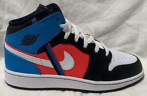 Nike Air Jordan 1 Mid GS Game Time Crimson Orbit CV4891 001. Youth Size: 4Y,6.5Y
