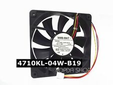 NMB 4710KL-04W-B19 Mute Chassis cooling fan DC12V 0.22A 120*120*25mm 3pin