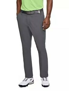 $100 Under Armour Micro Thread Golf Pants Men's Size 40/32 Gray 1306315-076 NWT