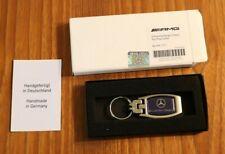 Genuine Mercedes Benz AMG Blue Carbon Key Chain Ring Danderyd Sweden