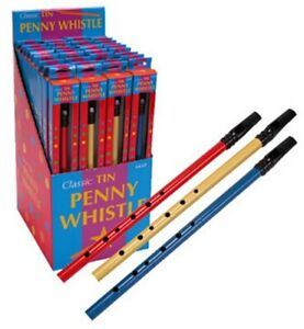 Tin Penny Whistle by Schylling - Childrens musical toy - only one included