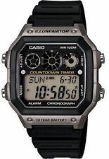 Casio Digital Men's Watch, 100M, Alarm, Referee Timer, Resin, AE1300WH-8AV