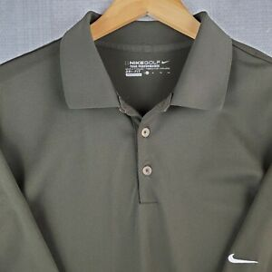 NIKE GOLF Size XL Tour Performance Mens Drab Green Short Sleeve Polo Shirt DriFi