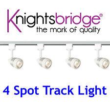 Knightsbridge éclairage sur rail Set Kit 4x Spot GU10 LED Blanc 2 m